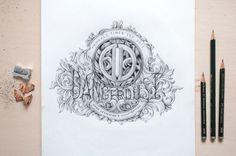 DANGERDUST BRANDING #design #t-shirt #sketche #pencil #typography