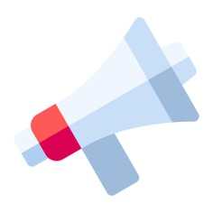See more icon inspiration related to bullhorn, shout, announcer, announcement, loudspeaker, electronics, megaphone, communications and marketing on Flaticon.