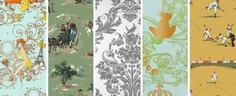 Childrens Wallpaper botanical floral