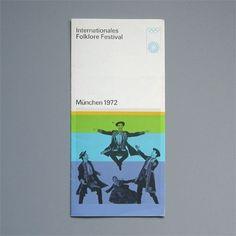 Otl Aicher 1972 Munich Olympics - Leaflets #otl #1972 #aicher #olympics #munich