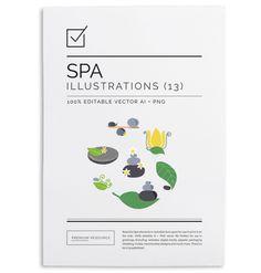 Spa Logo & Clip Art Set $8.00 Use this beautiful Spa clipart set to make your own logos connected with the beauty and spa industry. The set'