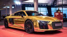 """Audi R8 """"Goldenes Lenkrad"""" #Audi #Chrome #R8"""