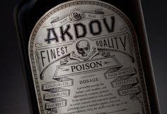 DM on Behance #packaging #typography #liquor #label #akdov #skull #death #poison