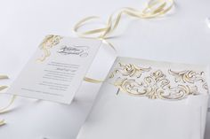 Victorian style Letterpress wedding invitation