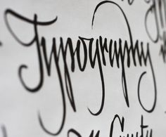 typography #calligraphy #type #design