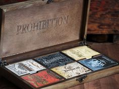Prohibition Box Set by Mike Clarke #logotype #lettering #branding #packaging #design #liquor #logo #illustration #identity #type #package #typography