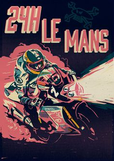 Guy Martin illustration, covering his 24hr Le Man racing. For Fastbike Germany. #design #speed #illustration #racing #motorcycle