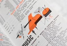 Javier Garcia #modern #orange #illustration #mid #vintage #century #music