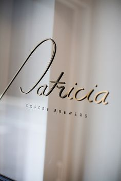 Typography(Patricia Coffee Brewers on Little William Street, Melbourne Australia, via fullfontal) #typography