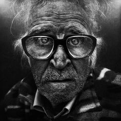 Lee Jeffries #glasses #old #stare #disheveled #man