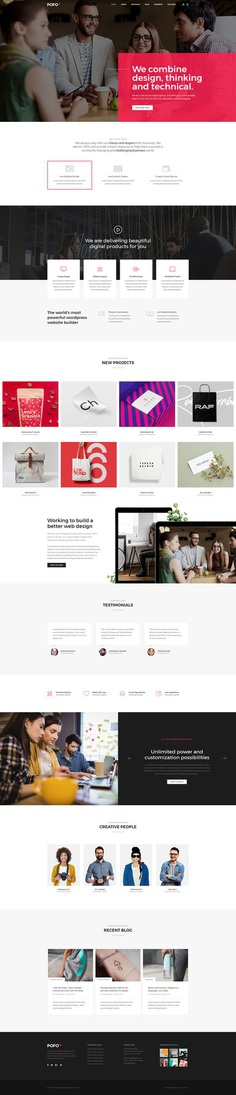 Pofo - #Creative #Portfolio and #Blog #WordPress Theme for #Innovation #Agency by #ThemeZaa