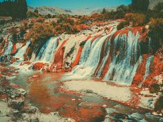 Limited Edition Print by Pale Grain #turkey #print #orange #artwork #nature #waterfall #river