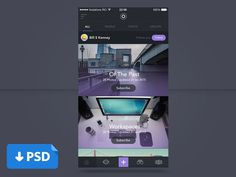Photos App UI PSD