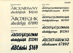 A specimen of Post Roman and Signal fonts. #type #specimen #font #typography