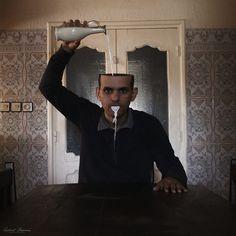 Dreamlike and Surreal Self-Portrait Photo Manipulations by Achraf Baznani