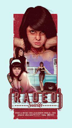 Radeo Suicide on Behance #vint #suicidegirls #print #art #poster #typography