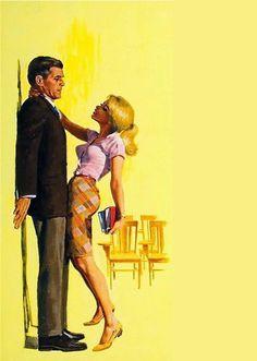 tumblr_lsmovhQrh21r4620ko1_500.jpg (499×700) #erotica #alfred #yellow #james #portrait #pulp #vintage #painting #meese