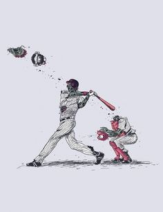 Flying Mouse 365 Tee Design - Week 3 on the Behance Network #baseball #zombie #illustration