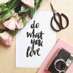 Likes | Tumblr #qoute #camera #scissors #handwritten #flowers