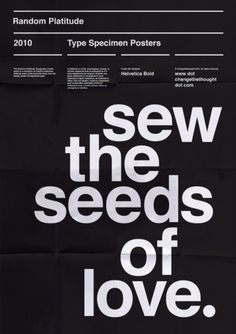 Sew the seeds of love #graphic #design #poster