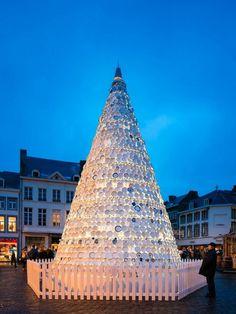 4 Ceramics christmas art tree in Hasselt