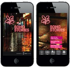 National Trust- Our innovative audio app for the National Trust received over 1,000 downloads in the first week. Download Soho Stories (it†#layout #app #branding