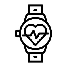 See more icon inspiration related to watch, heart, smart watch, time and date, healthcare and medical, heart rate, beats, electronics, device, sports, smart and technology on Flaticon.