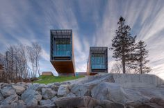 Cantilevered Two Hulls House Overlooking the Sea in Nova Scotia, Canada