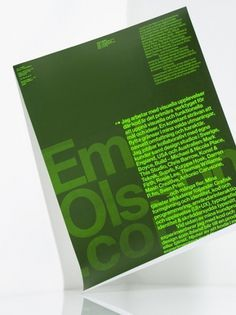 Emil Olsson Launch Poster | AisleOne #green #poster #typography
