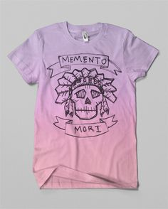 Justin Block • Memento Mori • T-shirt design currently in production for MAMAMA - a clothing company based in Paris. www.justin-block. #mori #memento #color #shirt #gradient #skull