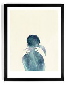 """Negative Space"" #beauty #negative #design #space #illustration #back #art #hands #embrace #hug"