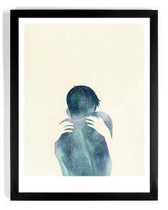 """Negative Space"" #beauty #negative #design #space #illustration #back #art #hands #embrace #hug"