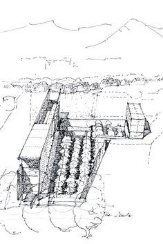 05 azero_landini_Bolzano 650 #project #view #design #drawing #contemporary #architecture #art #pen #pencil #museun