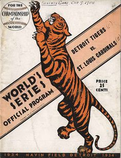 ephemera assemblyman: World Series Baseball Programs #detroit #retro #tigers #illustration #yankees #giants #vintage #baseball