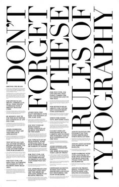 (4) Tumblr #rules #poster #typography