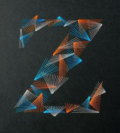 Weave Type 2 on the Behance Network #weave #design #zim #colorful #and #type #zou #stitch #typography