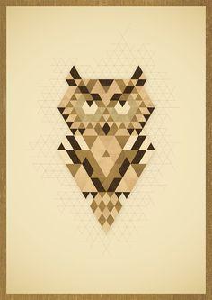 An Owl #wood #illustration #owl #poster