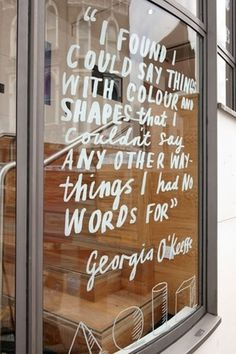Georgia O'Keefe quote #design #type #quote