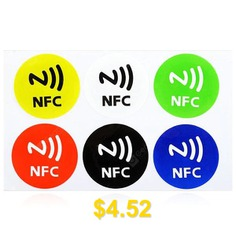 Ntag #203 #Smart #Tag #Set #Sticker #Mifare #Ultralight #for #NFC #Cell #Phones #6PCS #- #COLORMIX