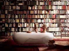Art instalation with bathtub