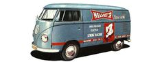 vehicle, VW, bus, advertising, vintage