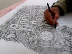 tumblr_m5m8coTLY51qh0381o1_500.jpg 500×375 pixels #ink #handdrawn #typography
