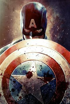 Steve Rogers and his shield, because in Cap's world defense is the best offense?