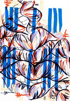 #24 / the hush / 110614 by Chiamaka Ojechi #illustration #pastel #lips #markers #minimal