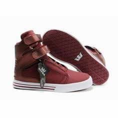 lady red white supra tk society high tops footwear #shoes