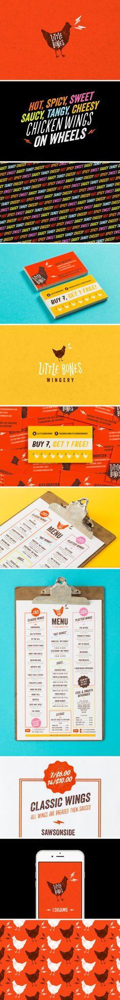Little Bones Wings Brand Identity - One Plus One Design #Brand #Identity #BrandIdentity #Branding