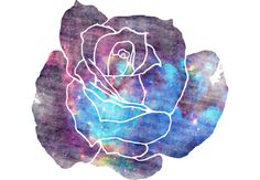 A faded rose with a galaxy print.