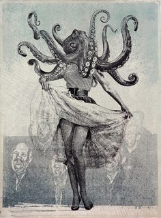 Cinq Un Quatre #jason #octopus #illustration #vintage #cantoro #ephemera
