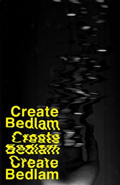 stvfdesign.com #chaotic #bedlam #simple #minimal #poster #type #dark #typography
