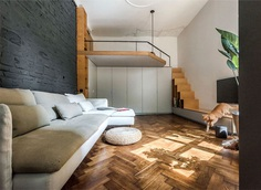 Cozy Apartment with Small Yard and Light Contemporary Design - InteriorZine